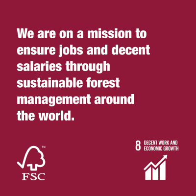 Together we are FSC® decent work and economic growth