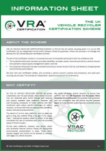 Vehicle Recycler Certification Scheme